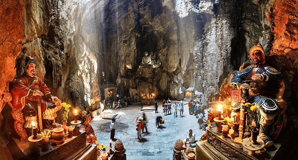Vietnam - Explore a marble mountain, temple and cave