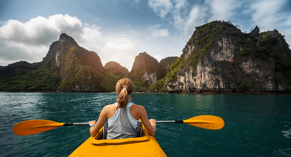 Vietnam - Kayaking at Ha Long Bay