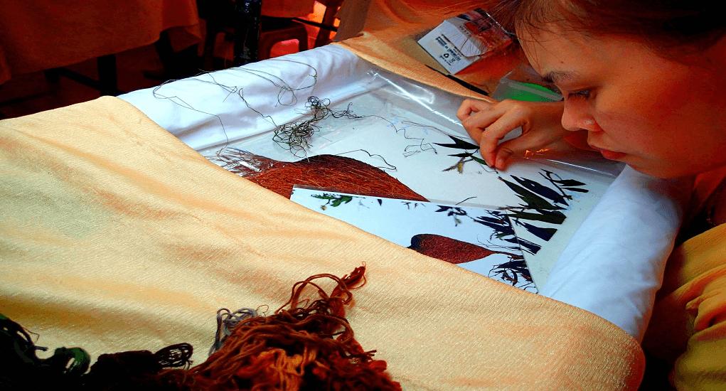 Vietnam - Silk painting