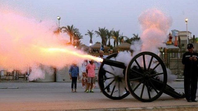 Cannons Fire in Iftar