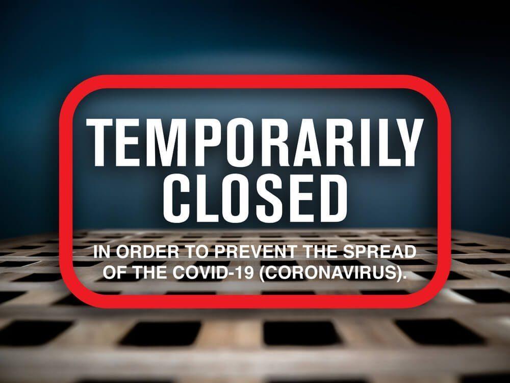 coronavirus closing shop