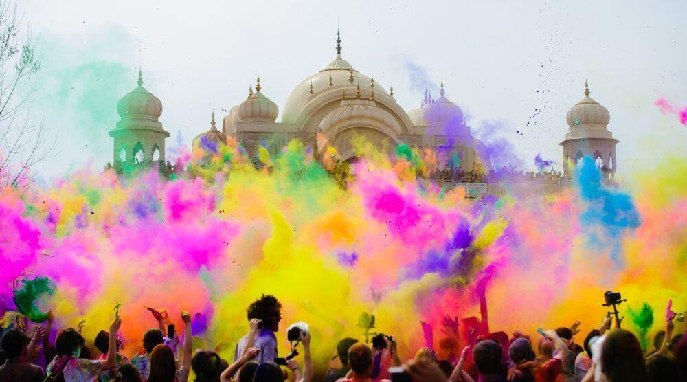 holi festival celebrations in india