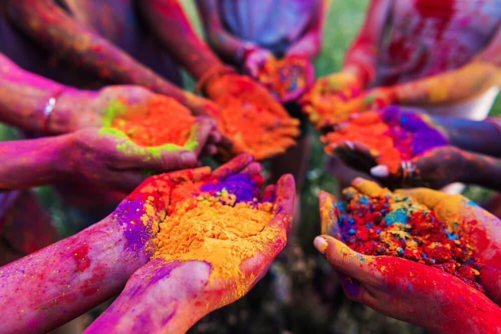 holi powder coloring
