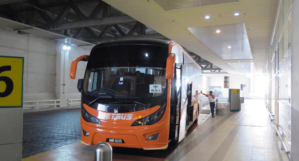 klia2 transportation - Aerobus bus at the klia2