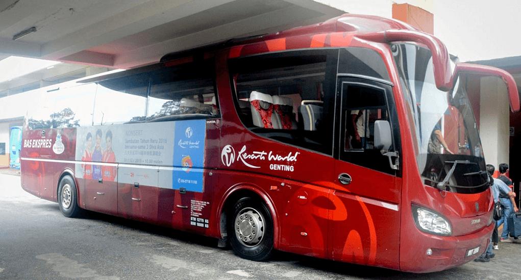 klia2 transportation - Genting Express Bus from Klang Valley locations