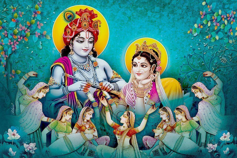 history of holi festival - krishna and radha
