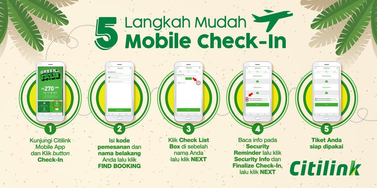 Cara cepat Check In online Dengan Mobile Check In