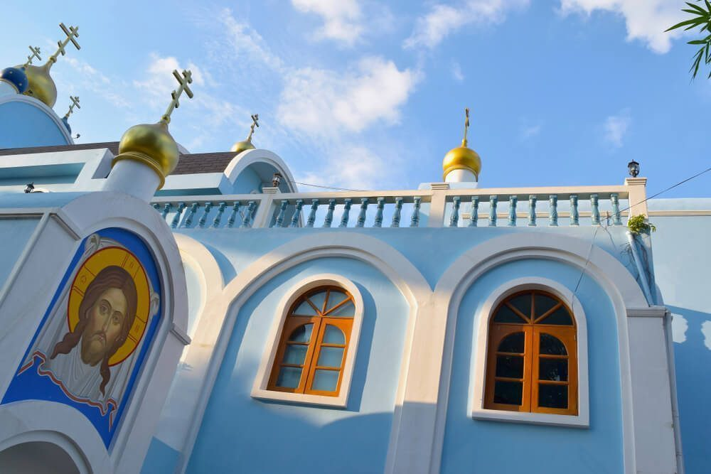 side view of orthodox church