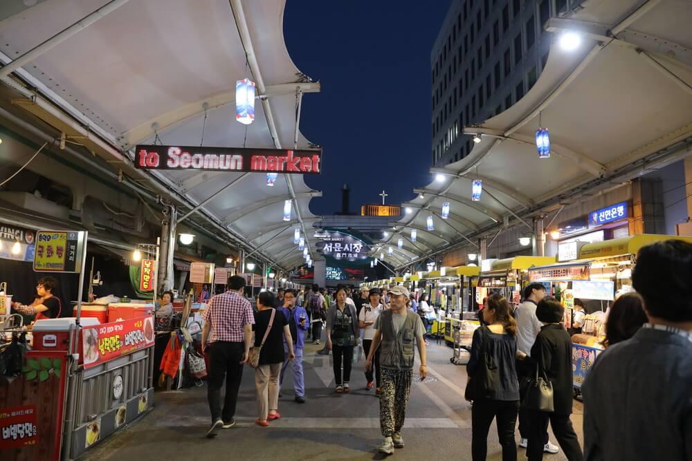 seomun market at night
