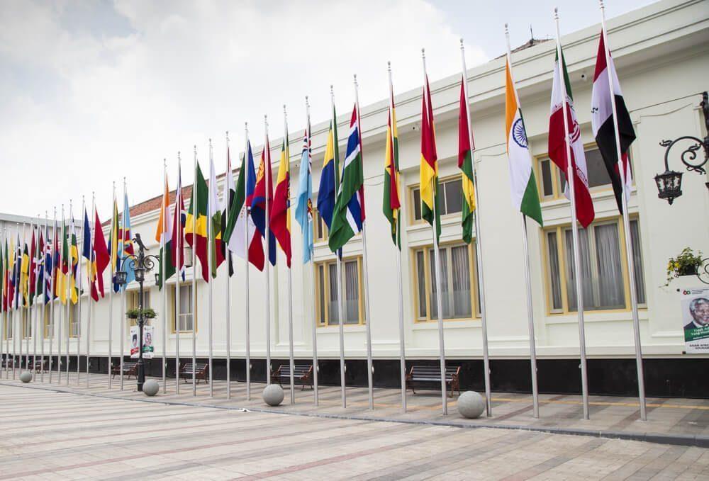 Tampilan Gedung Merdeka Saat Konferensi Asia Afrika Berlangsung