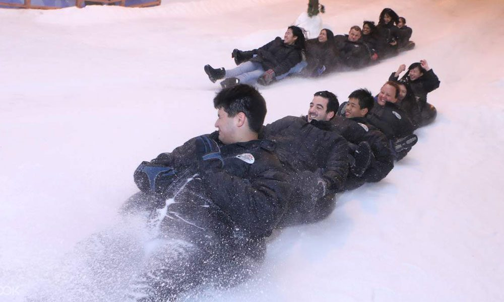 exciting snow slide for groups