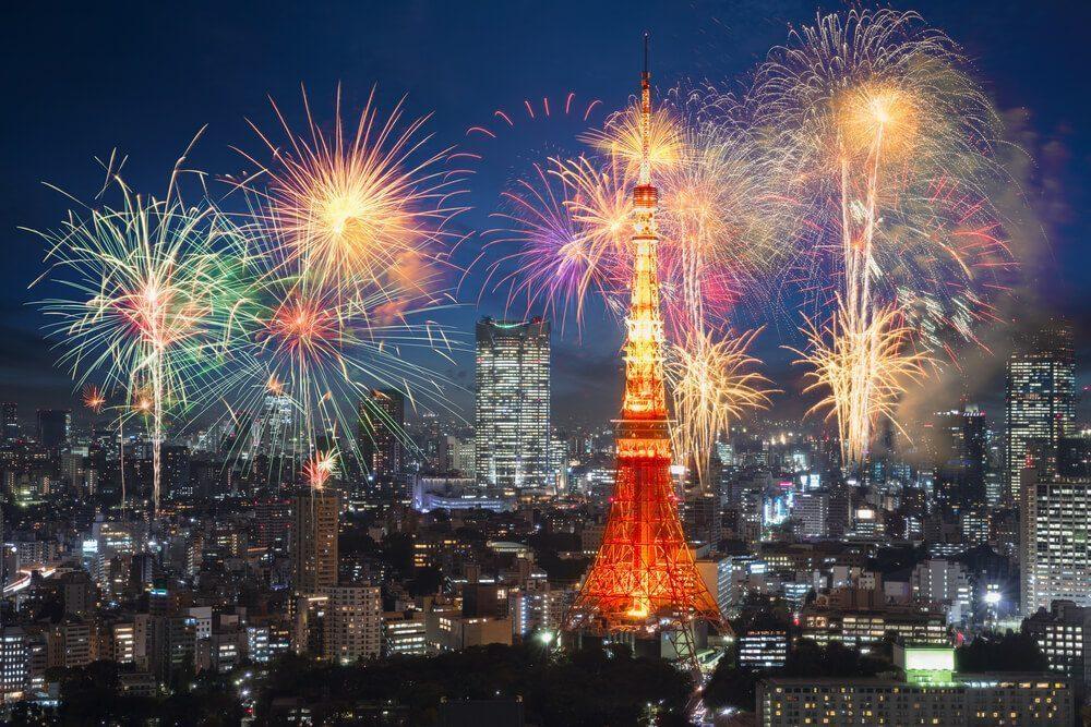 tokyo new year fireworks
